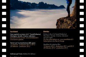 61º Trento Film Festival – Inscrições Abertas
