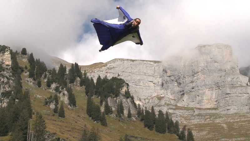 Wingsuit Downhill Target Punch